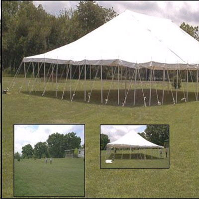 Where to find TENT, 40 X 60 POLE, WHITE in West Bend