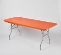 Rental store for TABLECOVER, 8  ELASTIC, Orange in West Bend WI
