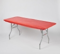 Rental store for TABLECOVER, 6  ELASTIC, Red in West Bend WI