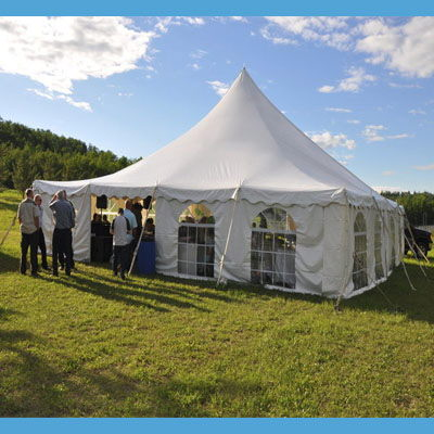 Where to find TENT, 40 X 40 TENSION, WEDDING WHITE in West Bend