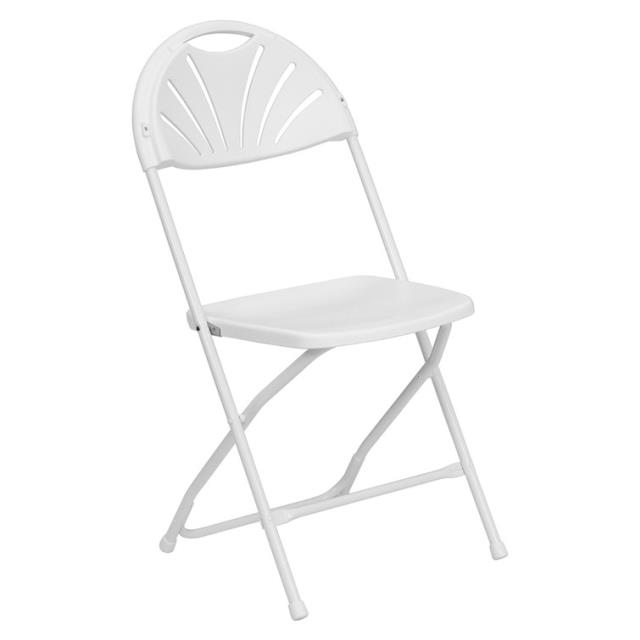 Where to find CHAIRS, WHITE FAN BACK in West Bend